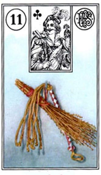 Carta Tarocchi della Zingara 11: La frusta.