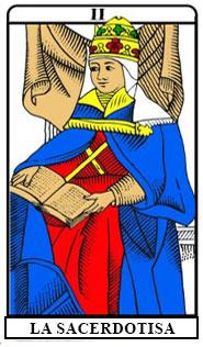 La carta della sacerdotessa dei Tarocchi di Marsiglia