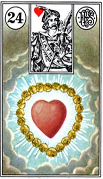 Carta Gitana 24 El Corazon Tarot Gitano