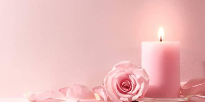 Incantesimi d'amore di attrazione con candele rosa