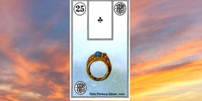 Carta zingara 25: l'anello. Scoprire i significati della carta