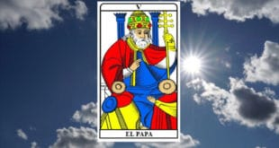 Carta dei Tarocchi Il Papa - Arcano V. Significato e combinazioni