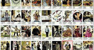 Lettura di tarocchi zingara con carte Lenormand