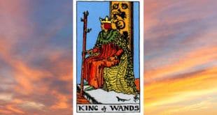Carta dei Tarocchi Re di Bastoni - Arcani Minori - Significato