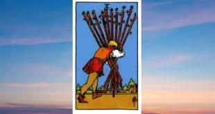 Carta dei Tarocchi Dieci di Bastoni - Arcani Minori - Significato