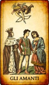 carta Gli Amanti nei Tarocchi