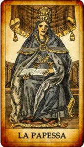 carta La Papessa nei Tarocchi